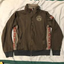 Napapijri Men's Full Zip Sweatshirt Italy NPR Size L Brown