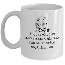 Science Physics mug gift - Albert Einstein inspirational quote about mistakes