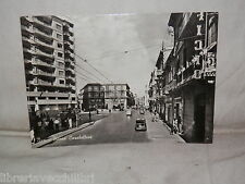 Vecchia cartolina foto d epoca di Bari Piazza Carabellese strada scorcio palazzi