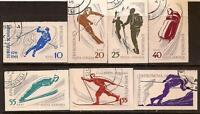 ROMANIA 1961 SPORT OLYMPIC IMPERF SC # C96-C102 FDC NH
