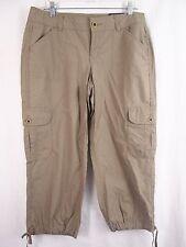 Tommy Hilfiger Capri's Cropped Cargo Pants Khaki Beige NEW $39.98 Women's 10