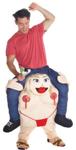 ADULT FAT STRIPPER PIGGYBACK INFLATABLE HALLOWEEN FUNNY COSTUME MHMCPBFS