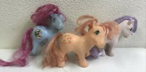 Vintage 1980s G1 My Little Pony Lot Of 3 Blossom Cherries Jubilee