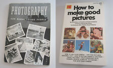 Lot (2) Vintage book HOW-TO Photograph + 1939 Kodak Rural Young Folk Photography