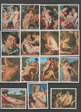 Paraguay stamps - lot paintings nudes ART  0505