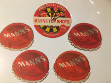 5 x Manns Brewery Beer Mats Bottle Tops And Darts (8.1)