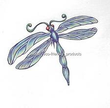DRAGONFLY BLUE AND GREEN Temporary Tattoo SEE SIZE IN LISTING