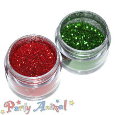 Rainbow Dust Cake paillettes-Christmas Sparkle Set of 2-fire red & Moss Green