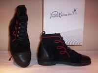 Scarpe alte polacchini stivaletti Primissima bimba bambina shoe pelle neri 33