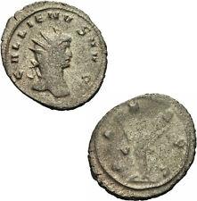 Gallienus Antoninian Rom PAX AVG Zepter Zweig Strahlenkrone Sole Reign RIC 256