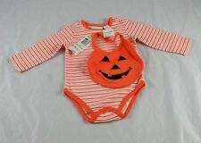 NWT First Impressions Bodysuit Bib 2 Piece Set Halloween Size 3-6  Months  u6p37