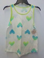 GIRL'S SIZE 14 SO BRAND BLUE AND GREEN HEARTS RELAXED FIT TANK NEW NWT #930