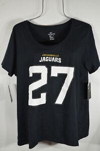 Nike NFL Woman's T shirt XL Jacksonville Jaguars # 27 Fournette Black NWT