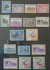 Yemen mint stamps - 1948 Admission to UN set of 10 & Airmail 6 values mnh