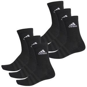 2 X Adidas Sport Freizeit Crew Socken 2 X 3er Pack Schwarz Black 6 Stück NEU