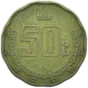 COIN / MEXICO  50 CENTAVOS 1998      #WT26449