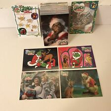 How The Grinch Stole Christmas (Movie) Complete Card Set Jim Carrey w/ 2 Promos