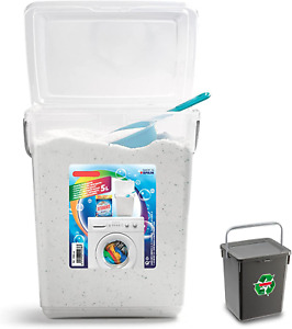 Plastic 5L Storage Container with Lid & Carry Handle Soap Laundry Washing Powder