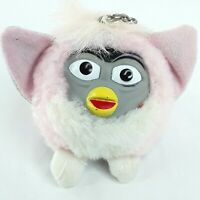 Furby Fake Clone fakie plush soft toy Pull string Vibrates Pink Mini Vintage