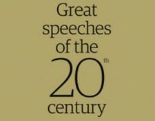 Great Speeches Of The 20th Century. 14 pamphlets in a collection box includes CD