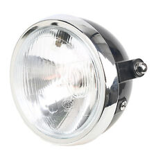"""Universal 6"""" Motorcycle Round Headlight Halogen H4 Bulb Head Lamp For Harley"""