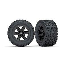 Traxxas 6774 Rustler 2WD Rear Talon EXT Tires Mounted on Black 2.8 Wheels (2)