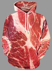 Women Mens Raw Meat Print Hoodie Kangaroo Pocket XL-5XL Plus Size Fashion Hoodie
