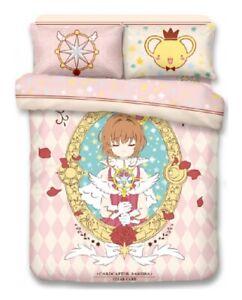 Cardcaptor Sakura Fitted Sheet Pillow Case Duvet Cover Bedding Manga