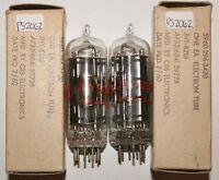 NOS NIB Date Matched Pair 1960 CBS-Hytron JHY-6216 USA Black P Vacuum Tubes 100%