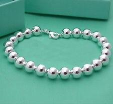 Fashion Christmas present  jewelry 925Silver beads bracelet