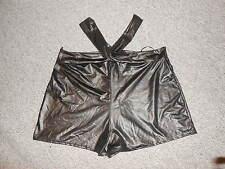 215 31b Pantalón corto minishorts Negro Ligamento cruzado Sexy Talla M/L NUEVO