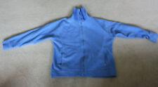 EWM light Blue zipped Fleece Top knitted funnel neck 42 inch across chest