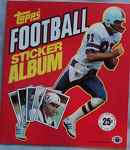 1981 Topps Football Sticker book unused Album