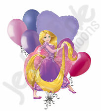 7 pc Rapunzel Disney Princess Balloon Bouquet Happy Birthday Party Decoration