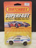 1985 Matchbox Lamborghini Countach LP.500S SF17 White Die-Cast Metal RL#89