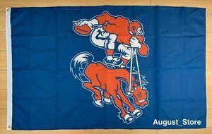 Denver Broncos Flag 3x5 ft Banner Retro Throwback Old School NFL