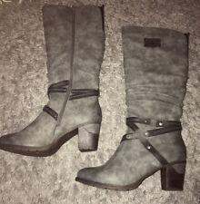 Rieker  Grey Knee High Boots 7/40 New
