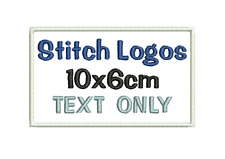 Embroidered Personalised Patch Badge 10x6cm TEXT ONLY iron on Custom Made