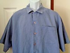 Authentic BIG DOGS Shirt Men's Size Large Blue White Check Camp Style Shirt