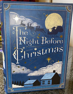 The Night Before Christmas Large Faux Book Hidden Storage Box Punch Studio