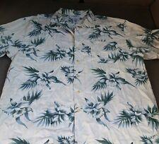 Knightsbridge Mens Large Button Down Floral Hawaiian Vacation Casual Shirt