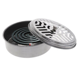 Mosquito Coil Holder Coil Incense Burner with Mesh Stand Camping Garde W^ HG