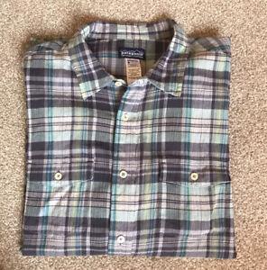 Mens Patagonia Organic Cotton Check Shirt Size XL Good Condition