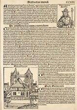 Schedel Weltchronik 1493 Blatt 219 Zisterzienser Orde Adolphus Bonifacius octvus