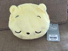 "New Disney Store Plush Winnie The Pooh Bear Zippered Coin Purse Wallet 5"" x 4.5"""
