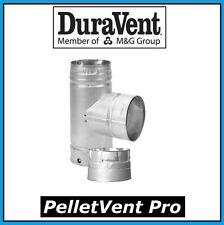 "DURAVENT PELLETVENT PRO Pipe 3"" Diameter Tee with Cap #3PVP-T NEW!"