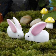 10Pcs Großes Ohr Kaninchen Miniatur Bonsai Garten Rasen Ornament Dekor Figur DIY