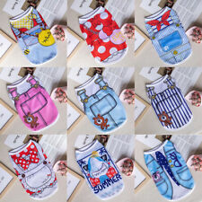 New Cartoon Small Dog Vest Puppy Clothes Breathable Mesh Vest Pet Cat Apparel