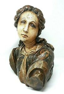 Large Pottery Bust Of A Woman