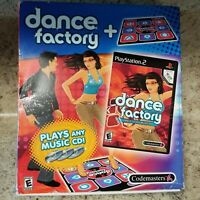 PLAYSTATION 2 DANCE FACTORY WITH DANCE MAT Complete SONY PS2 USE YOUR OWN CDS